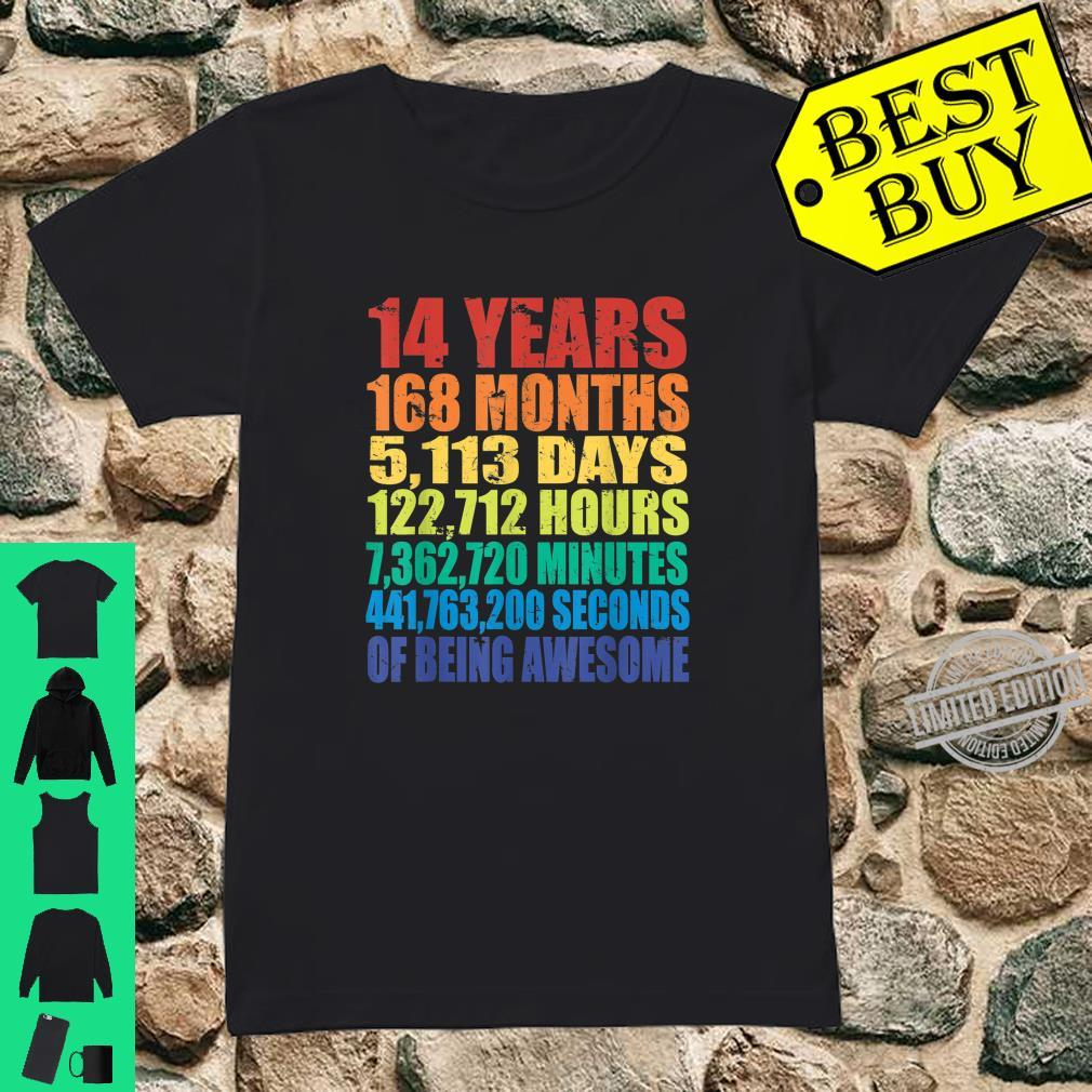 14th Birthday Boys & Girls 14 Years Of Being Awesome Shirt ladies tee