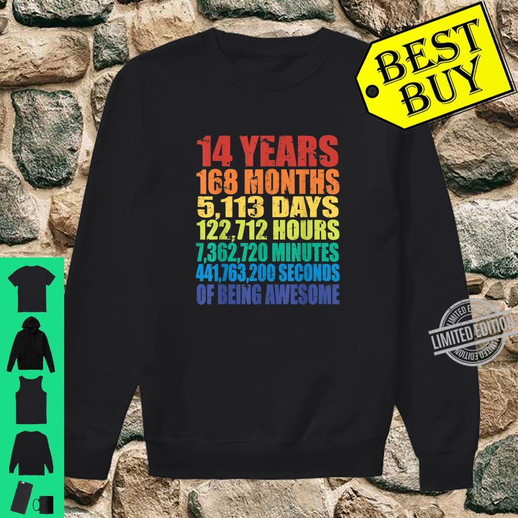 14th Birthday Boys & Girls 14 Years Of Being Awesome Shirt sweater