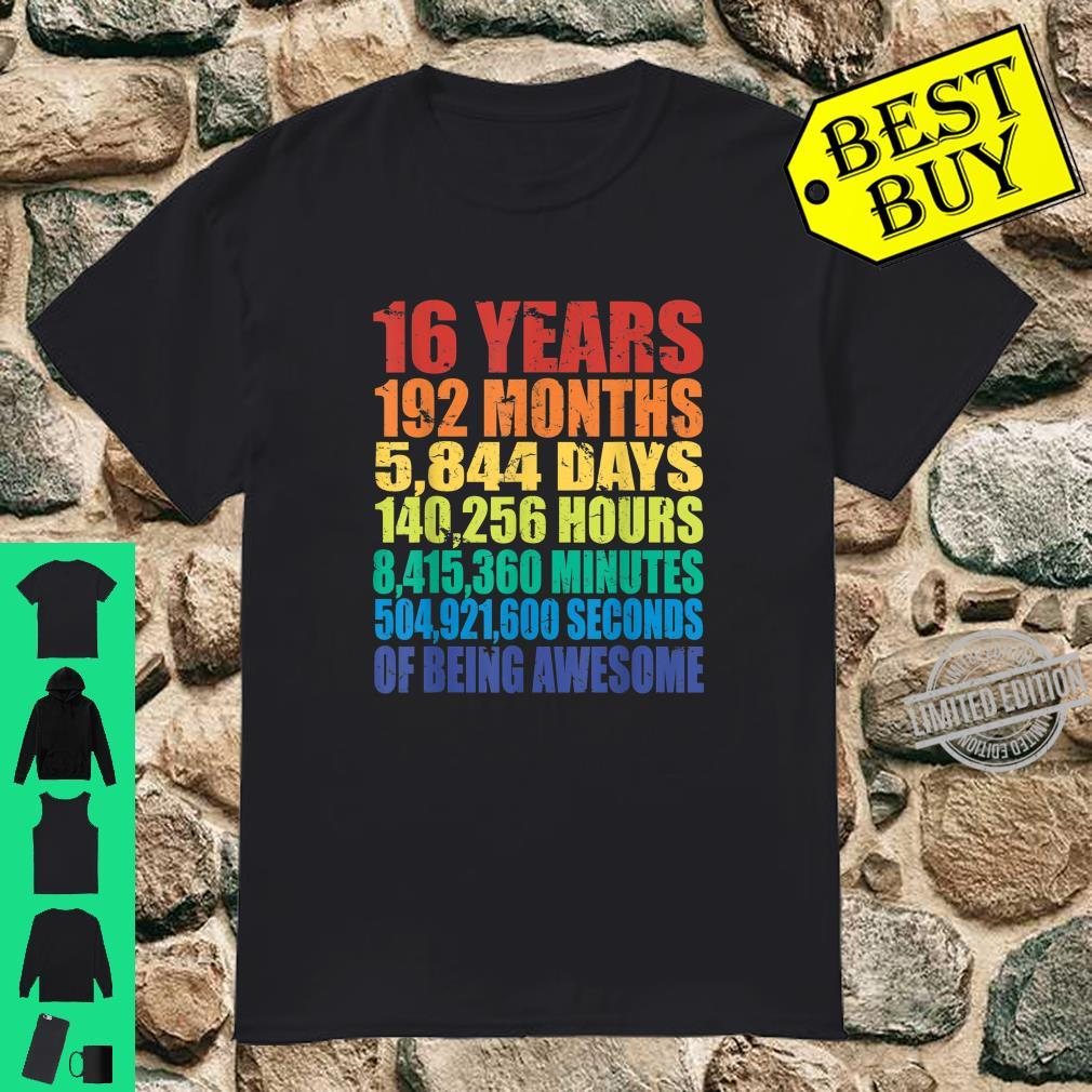 16th Birthday Boys & Girls 16 Years Of Being Awesome Shirt