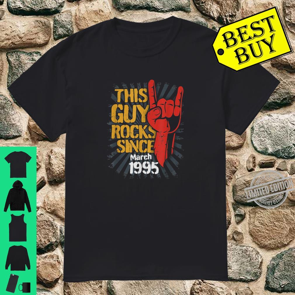 25th Birthday Born in March Guy Rocks since 1995 Shirt