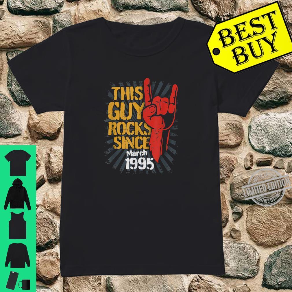 25th Birthday Born in March Guy Rocks since 1995 Shirt ladies tee