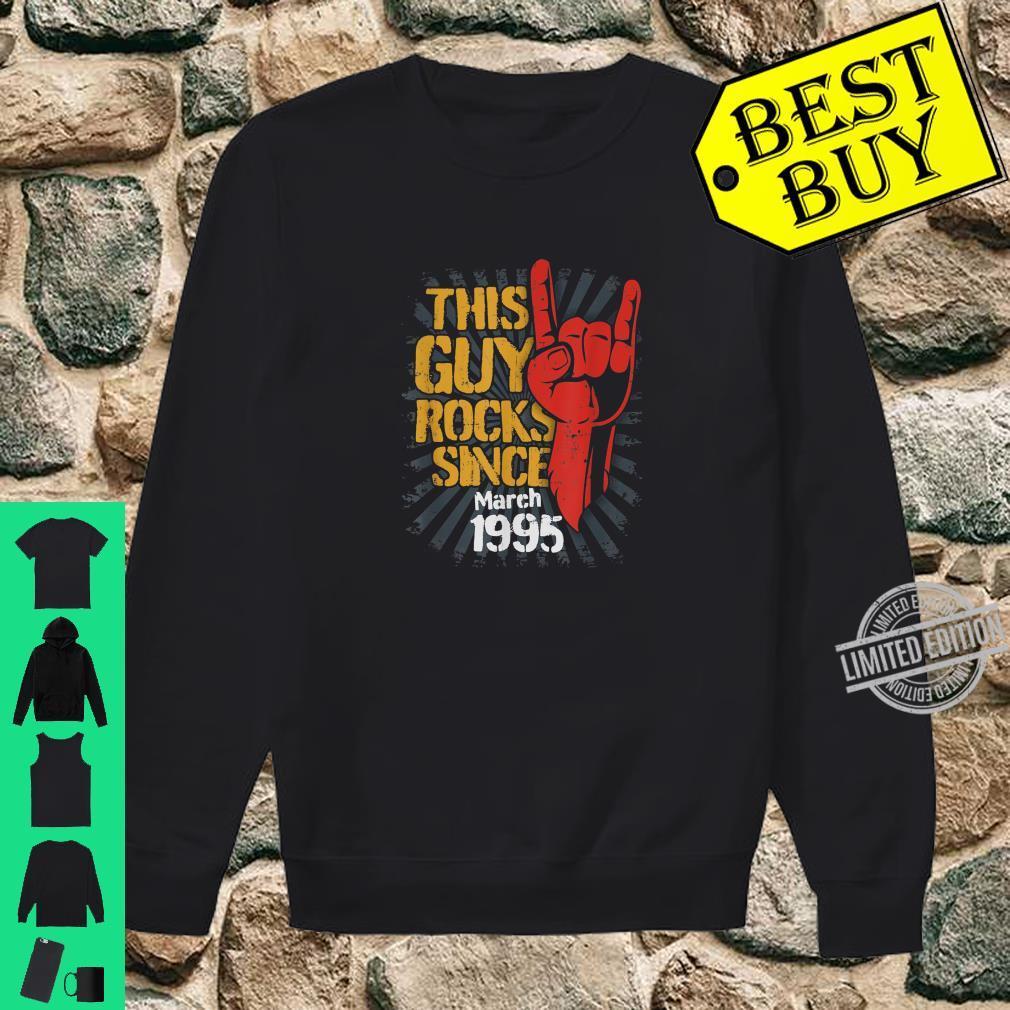 25th Birthday Born in March Guy Rocks since 1995 Shirt sweater