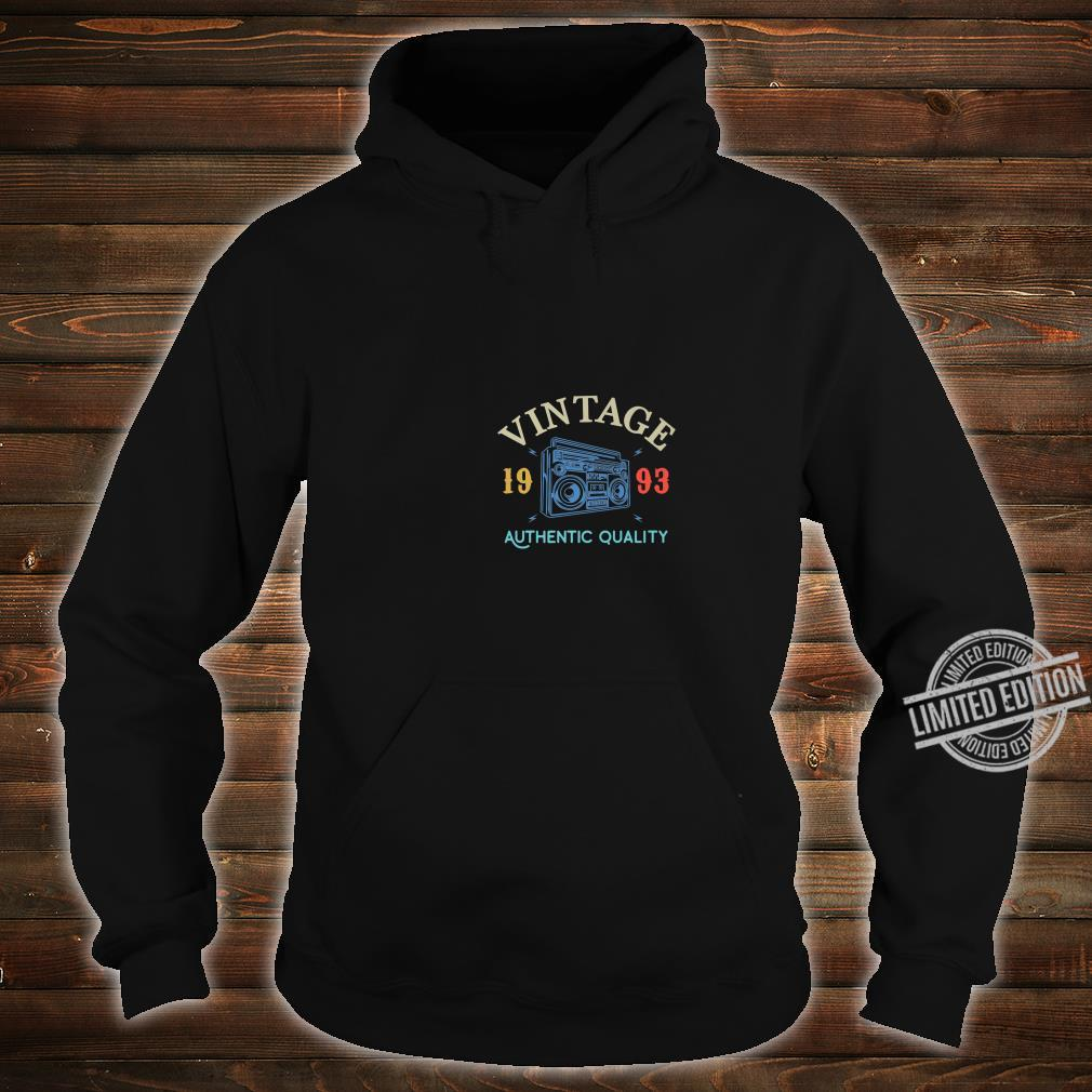 26 Years Old 1993 Vintage 26th Birthday Anniversary Shirt hoodie