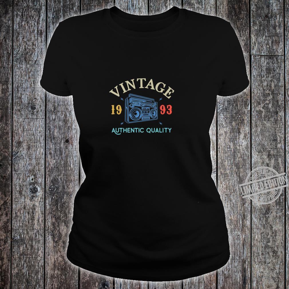 26 Years Old 1993 Vintage 26th Birthday Anniversary Shirt ladies tee