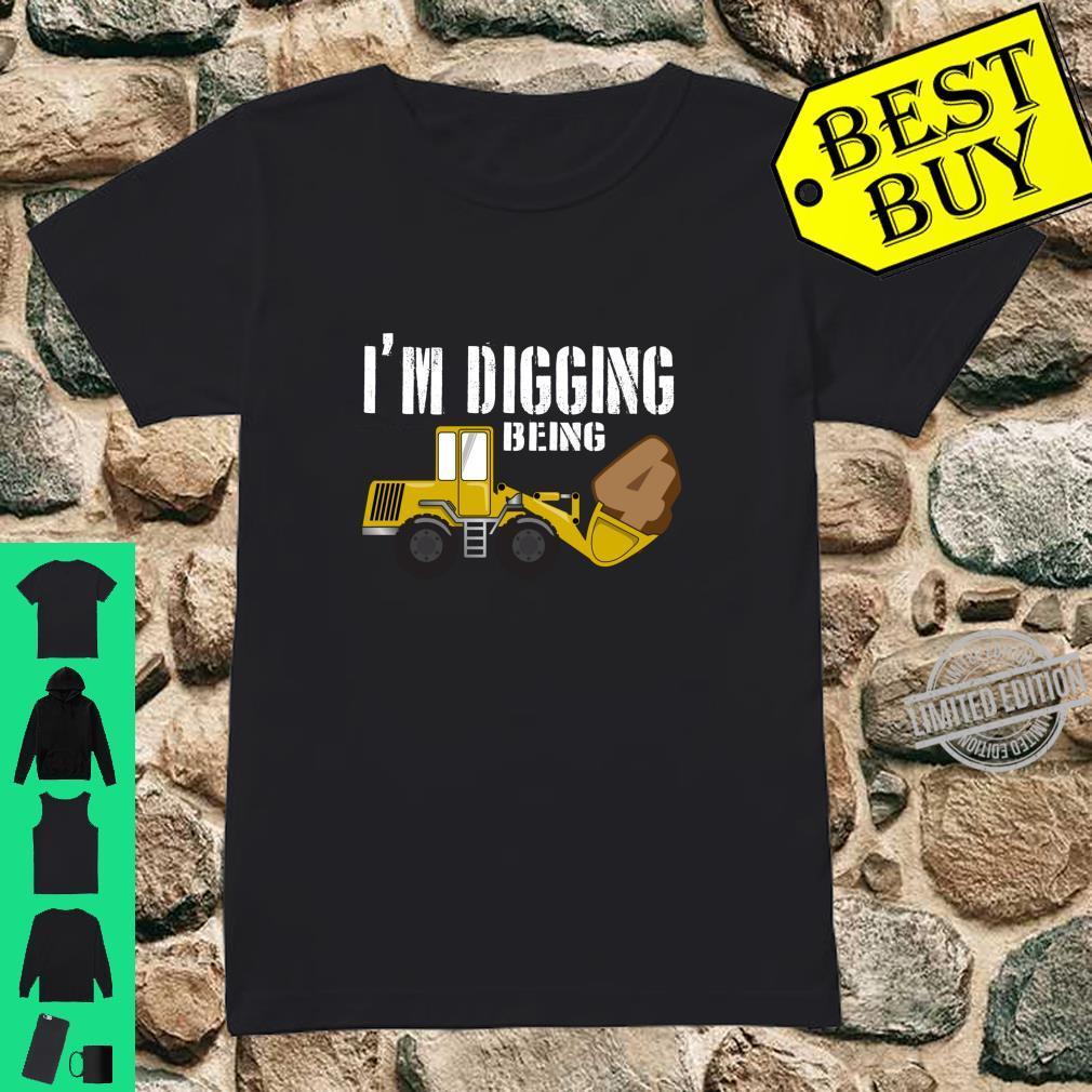4th Birthday Shirt Construction Shirt, 4 Year Old Bday Shirt ladies tee