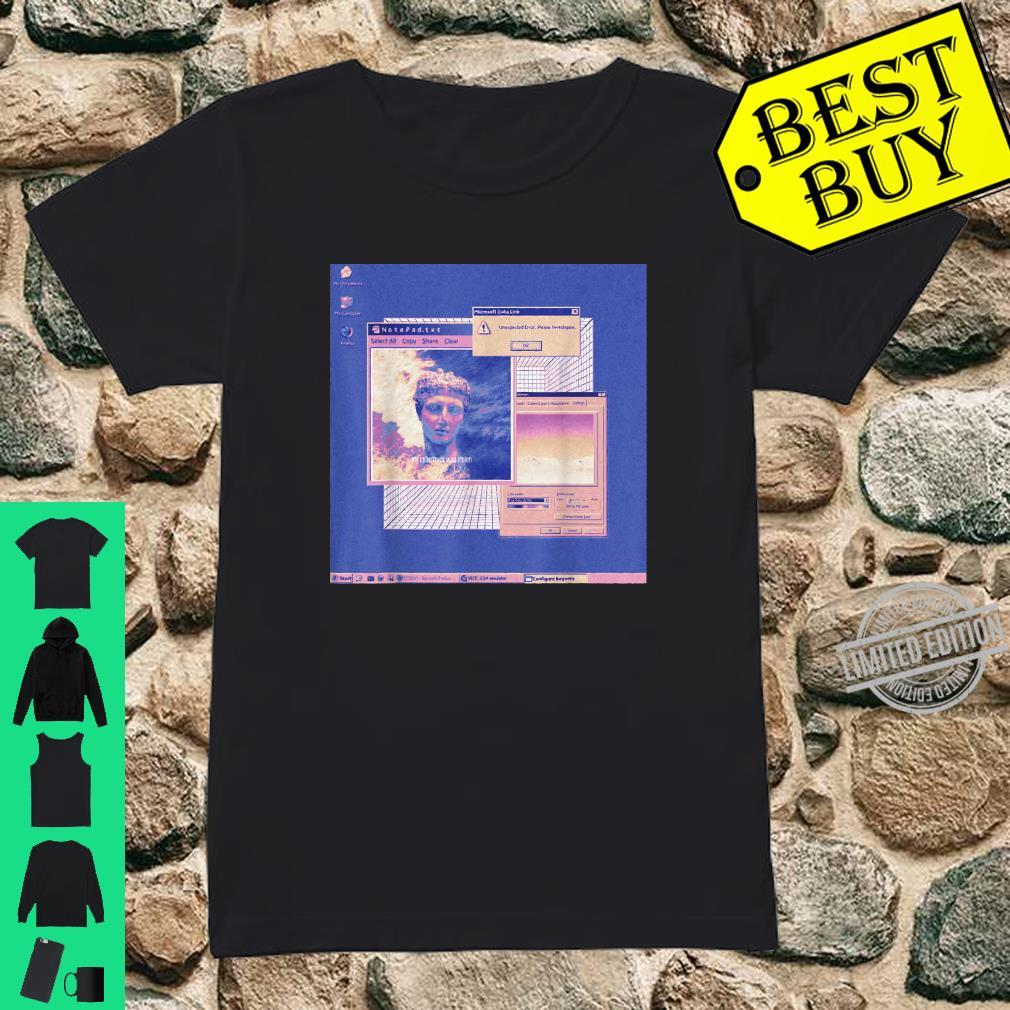Aesthetic Vaporwave Shirt Retro 80s Vaporwave Aesthetic Shirt ladies tee