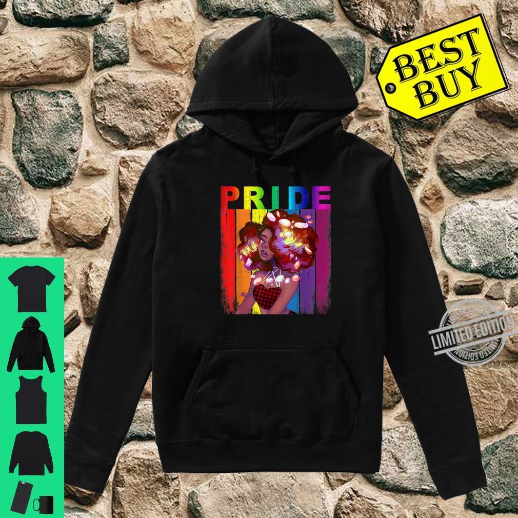 African American Gay Pride LGBT Rainbow Red Plaid Bandana Shirt hoodie