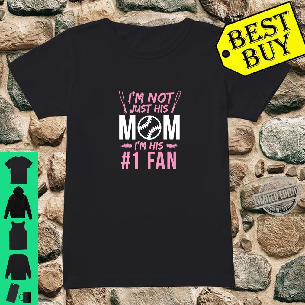 Baseball Mom His #1 Fan Shirt ladies tee