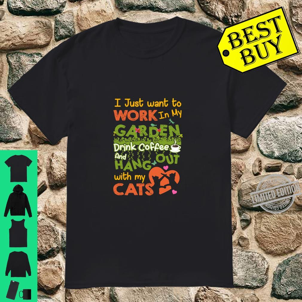 Cats Coffee Hang Out With Cats Girl Shirt
