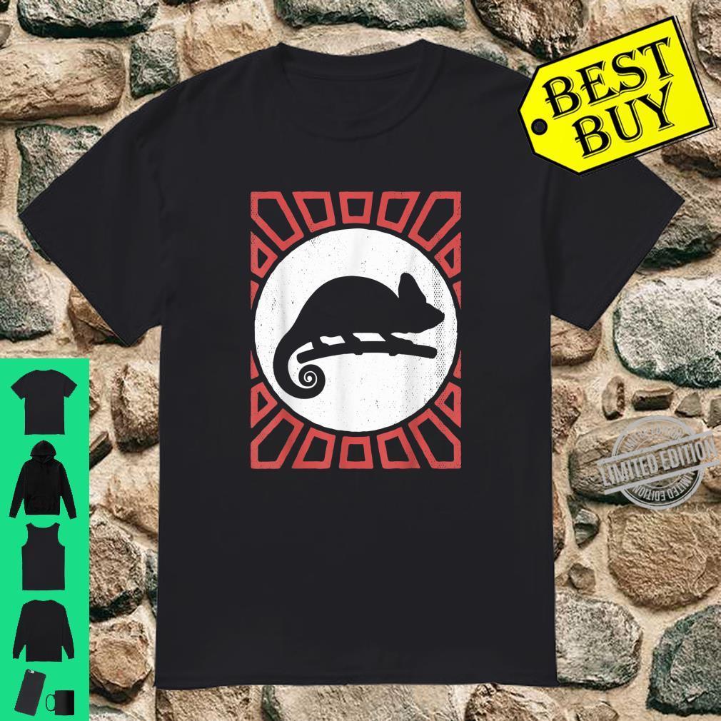 Chameleon Vintage Retro Style Animal Shirt