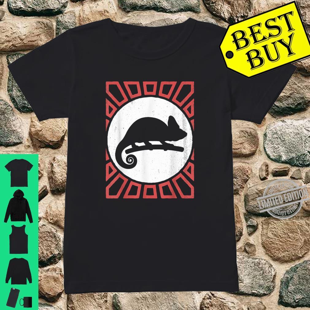 Chameleon Vintage Retro Style Animal Shirt ladies tee