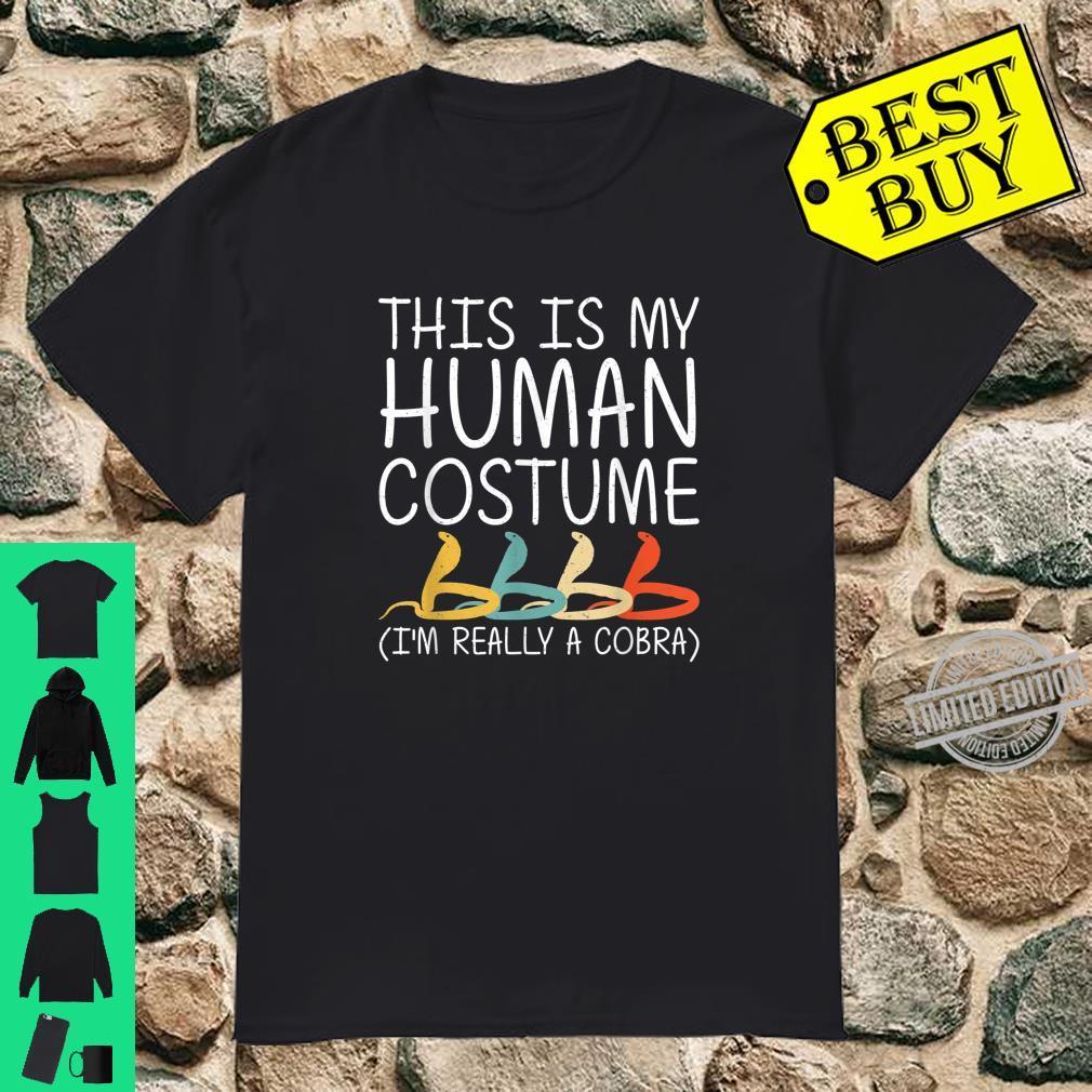 Cobra Halloween Human Costume Animal Snake Easy DIY Shirt