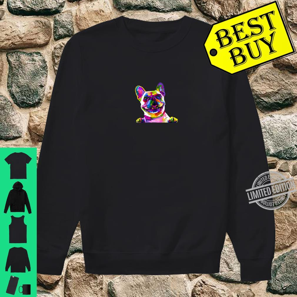 Colorful frenchie gift french bulldog owner Shirt sweater