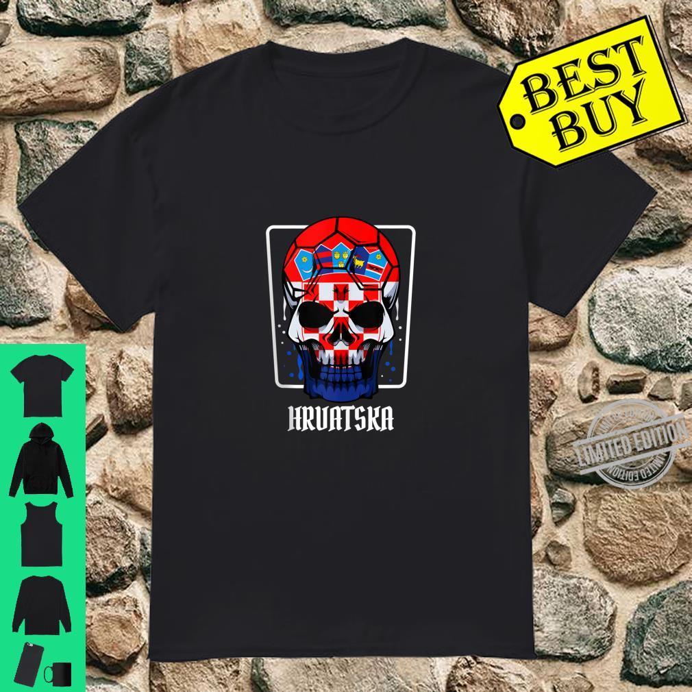 Croatia Hrvatska Skull Flag Pride Supporter Cheering Sport Shirt