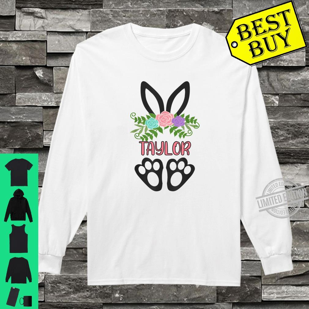 Cute Boho Easter Bunny Personalized TAYLOR Shirt long sleeved