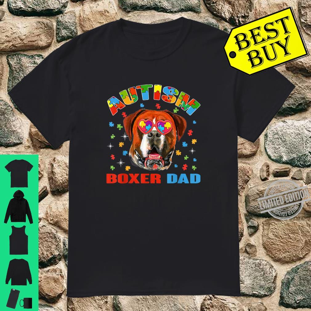 Cute Boxer Autism Awareness Dog Dad Shirt