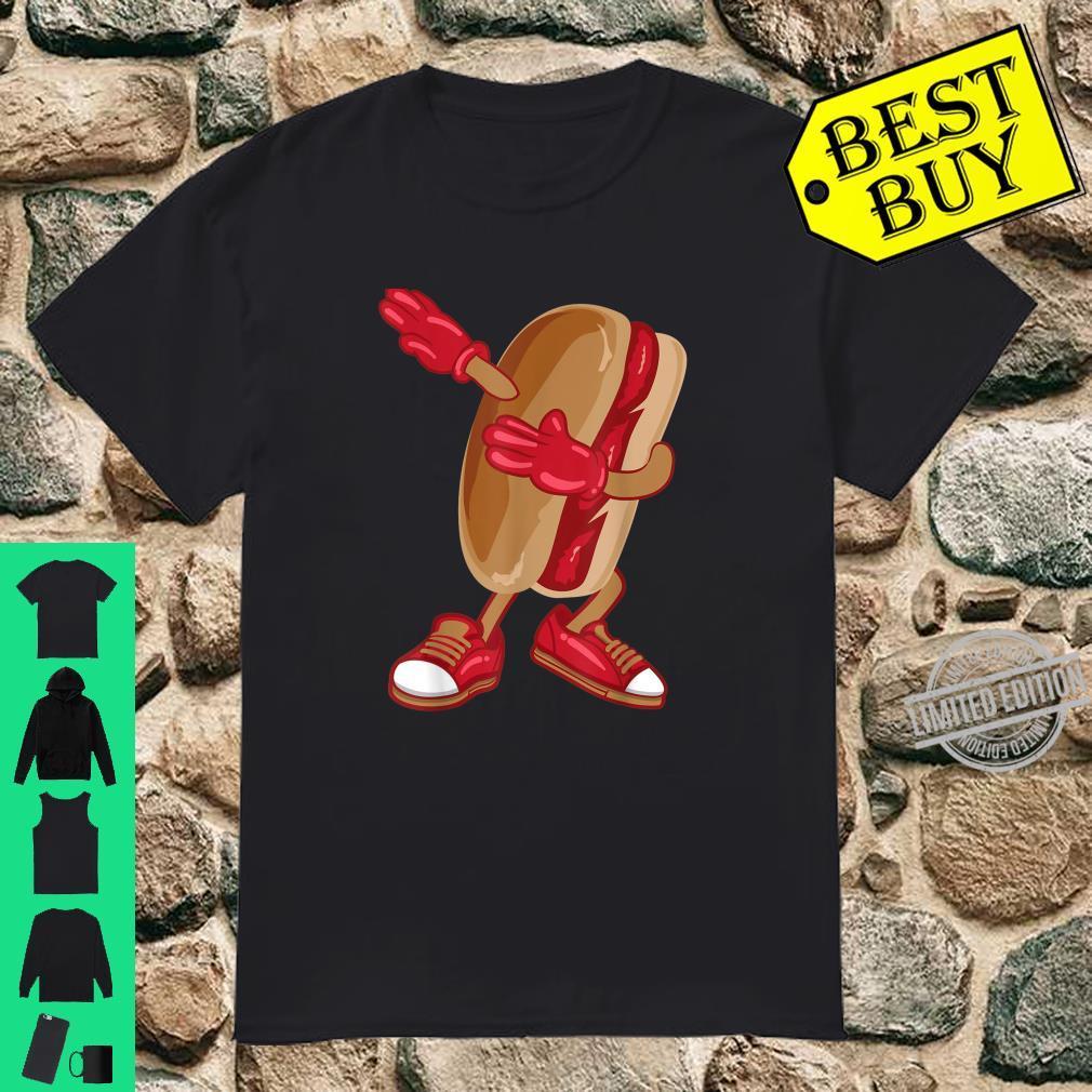 Dabbing Hot Dog Cool American Hot Dog Sandwich Shirt