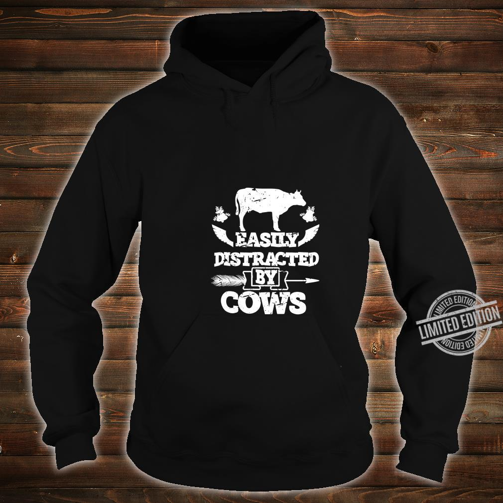 Easily Distracted by Cows Farmers Loves Cow Christmas Shirt hoodie