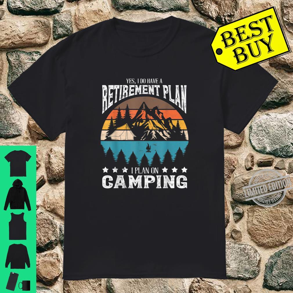 Funny Campings Retired Retirement Retro Vintage Shirt