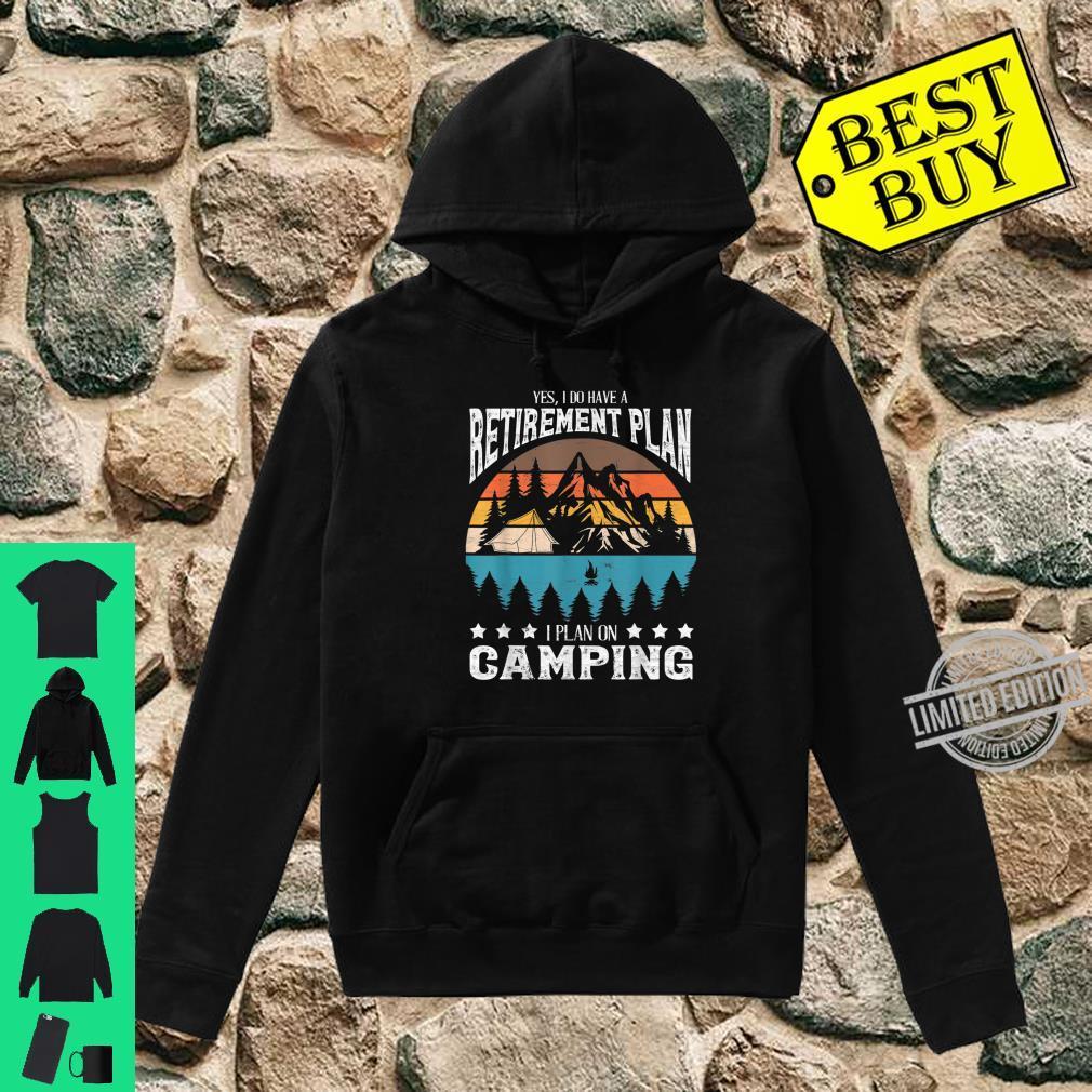 Funny Campings Retired Retirement Retro Vintage Shirt hoodie