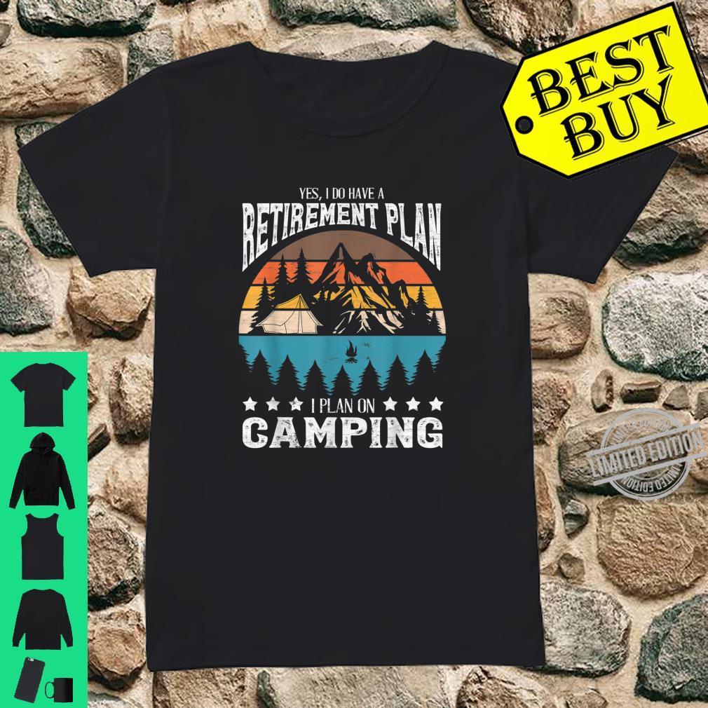 Funny Campings Retired Retirement Retro Vintage Shirt ladies tee