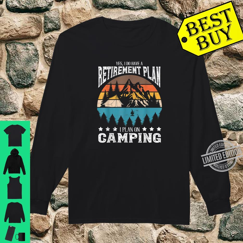 Funny Campings Retired Retirement Retro Vintage Shirt long sleeved