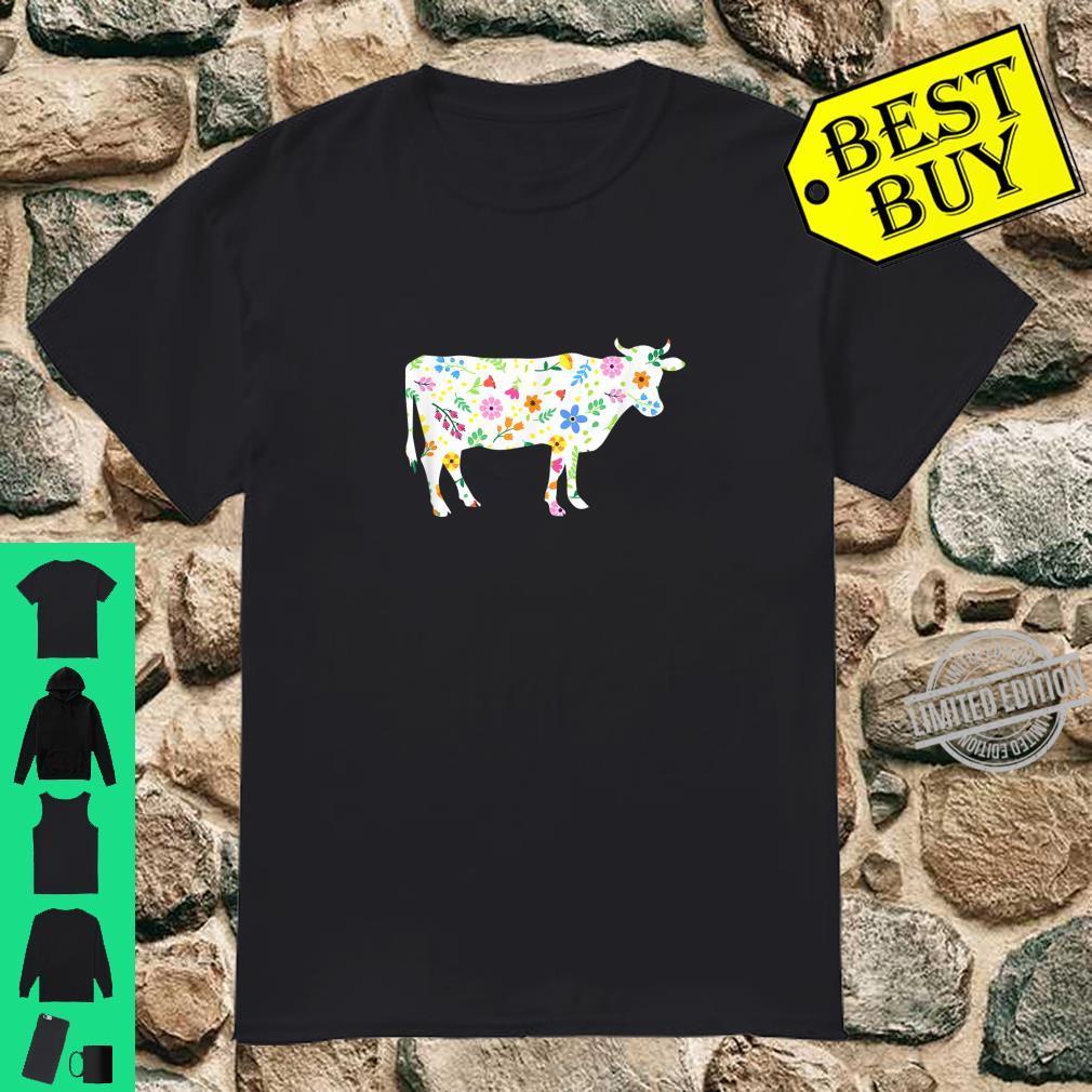 Funny Cow Vintage Floral Flower Girls Shirt