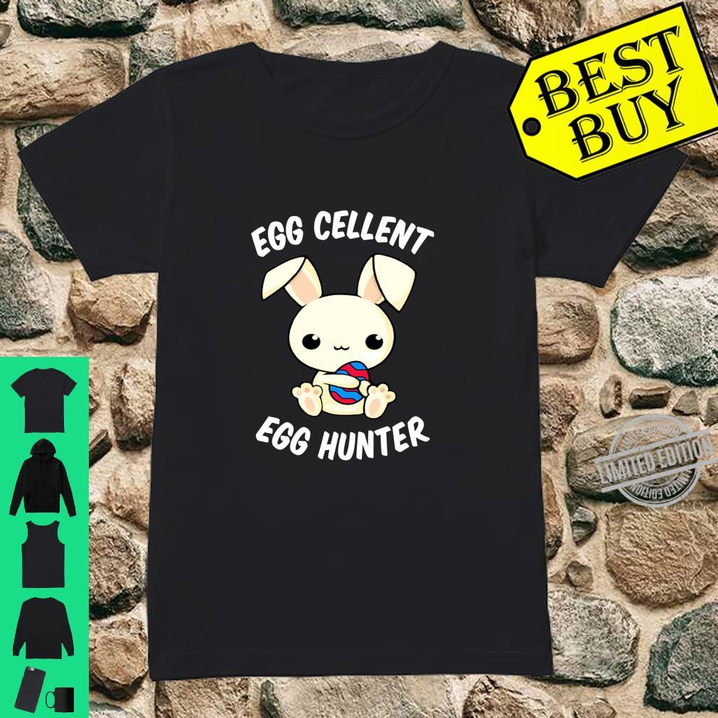 Funny Easter Day EggCellent Egg Hunte Bunny Ear & Shirt ladies tee