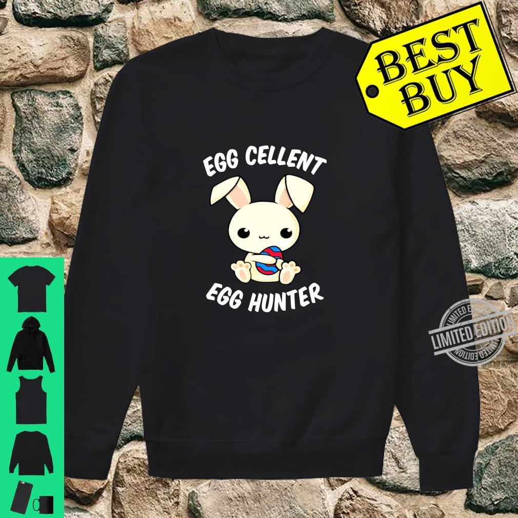 Funny Easter Day EggCellent Egg Hunte Bunny Ear & Shirt sweater