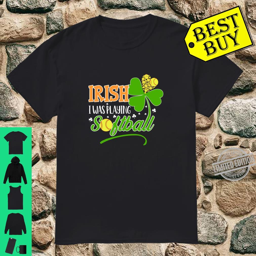 Funny Irish Softball St Patricks Day Shirt For Shamrock Shirt