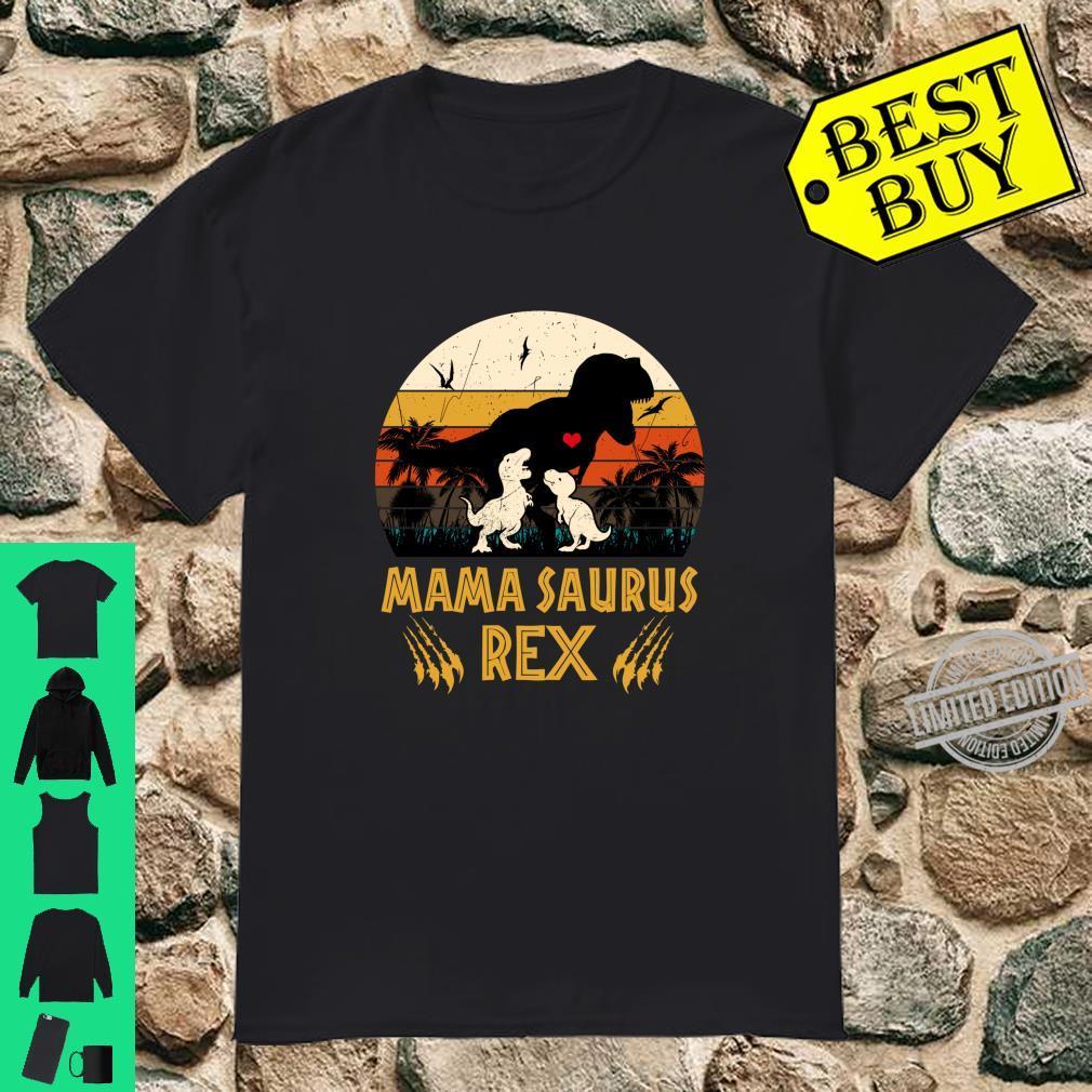 Funny Mamasaurus Rex Cool Two Mom and Dinosaur Shirt