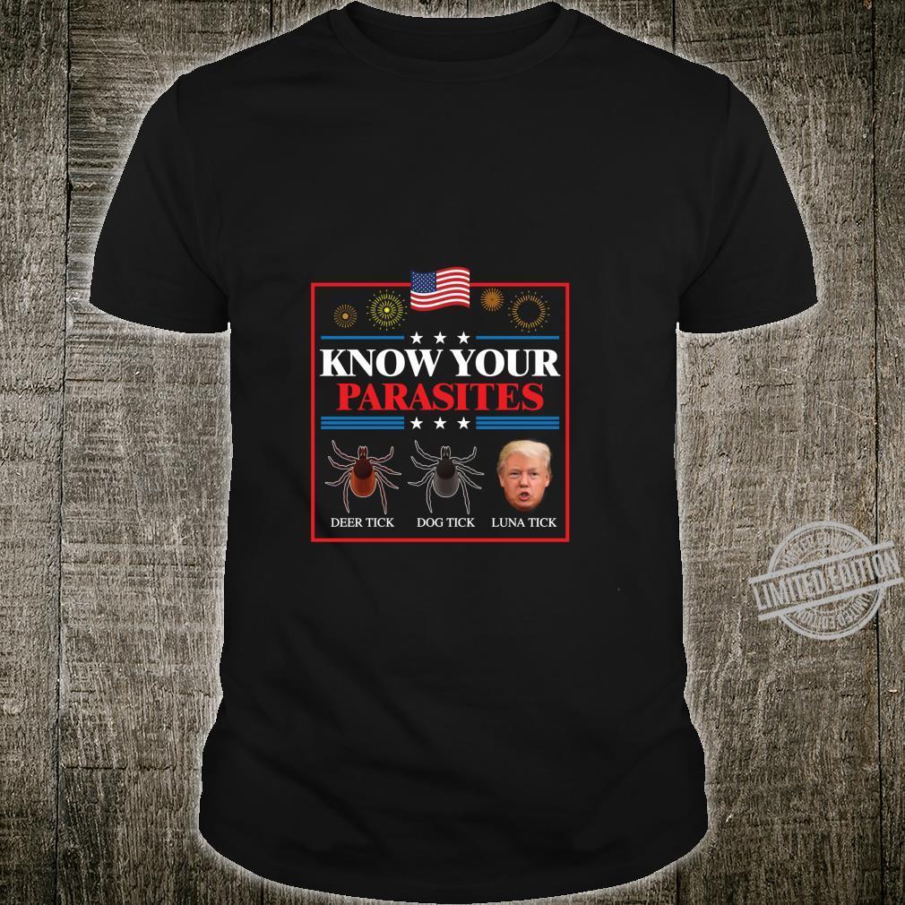 Funny President Donald Trump Parasite Lunatic Shirt