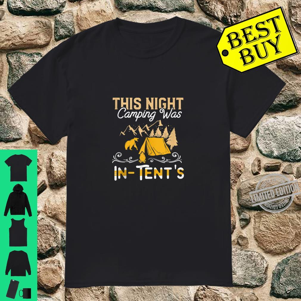 Funny This Night Camping Was InTents Fear Grizzly Bear Camp Shirt