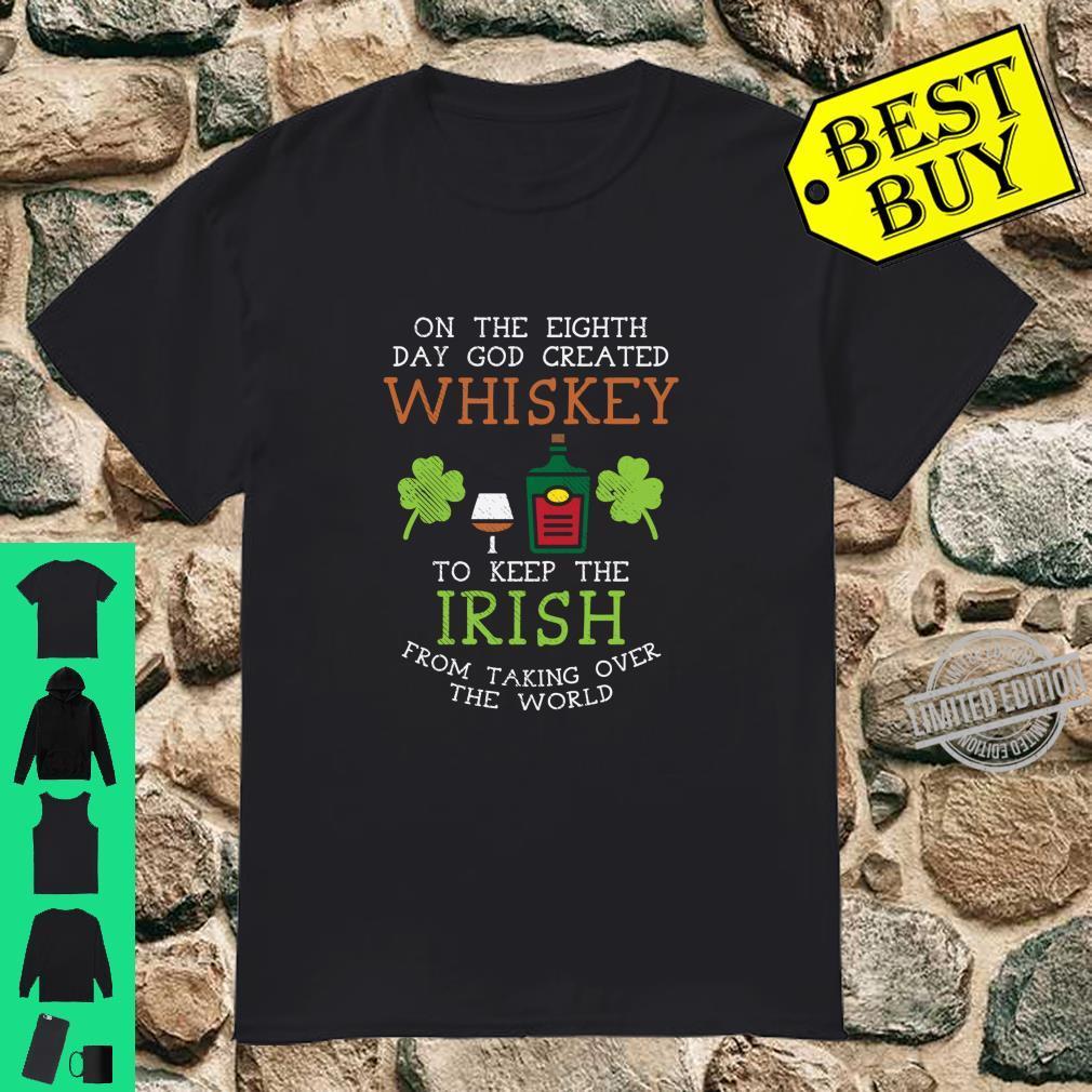 God Created Whiskey Irish Drink St Patricks Day Langarmshirt Shirt