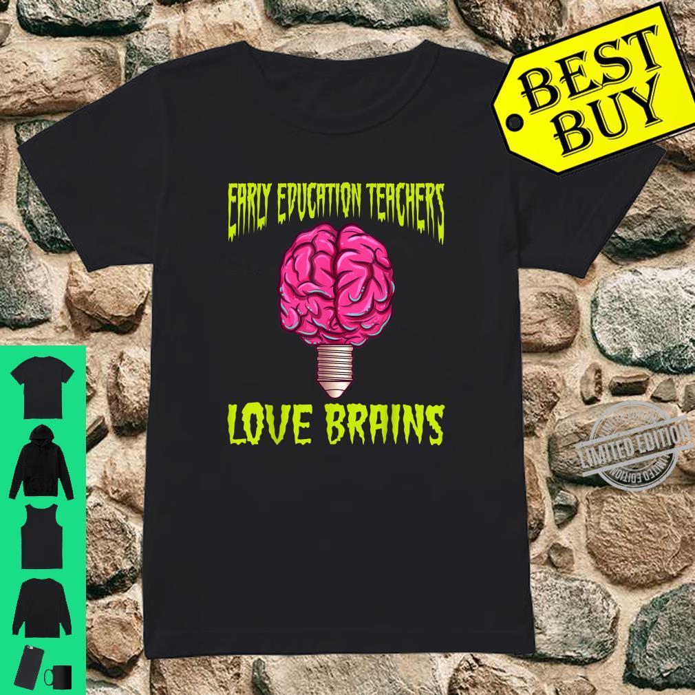 Halloween Early Education Teacher Love Brains Shirt ladies tee