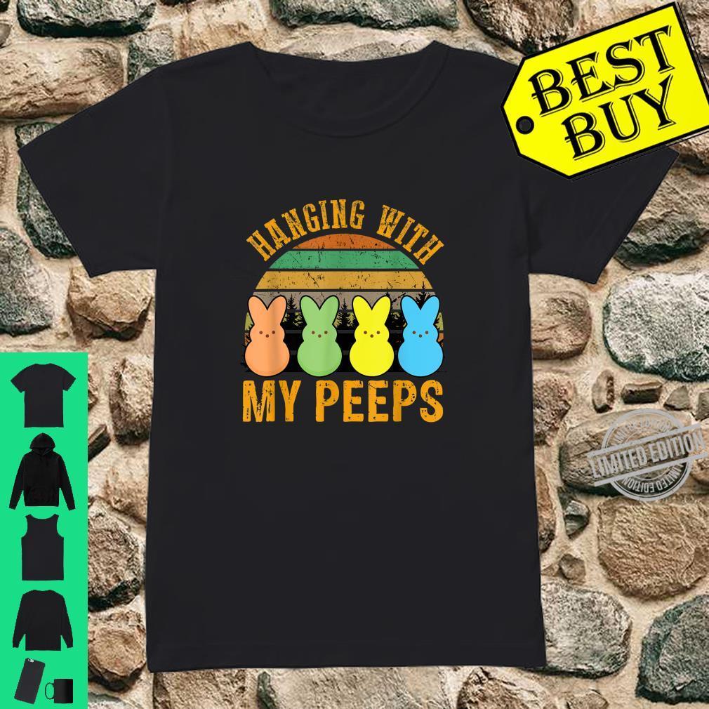 Hangin' With My Peeps Vintage Easter Bunnys Shirt ladies tee