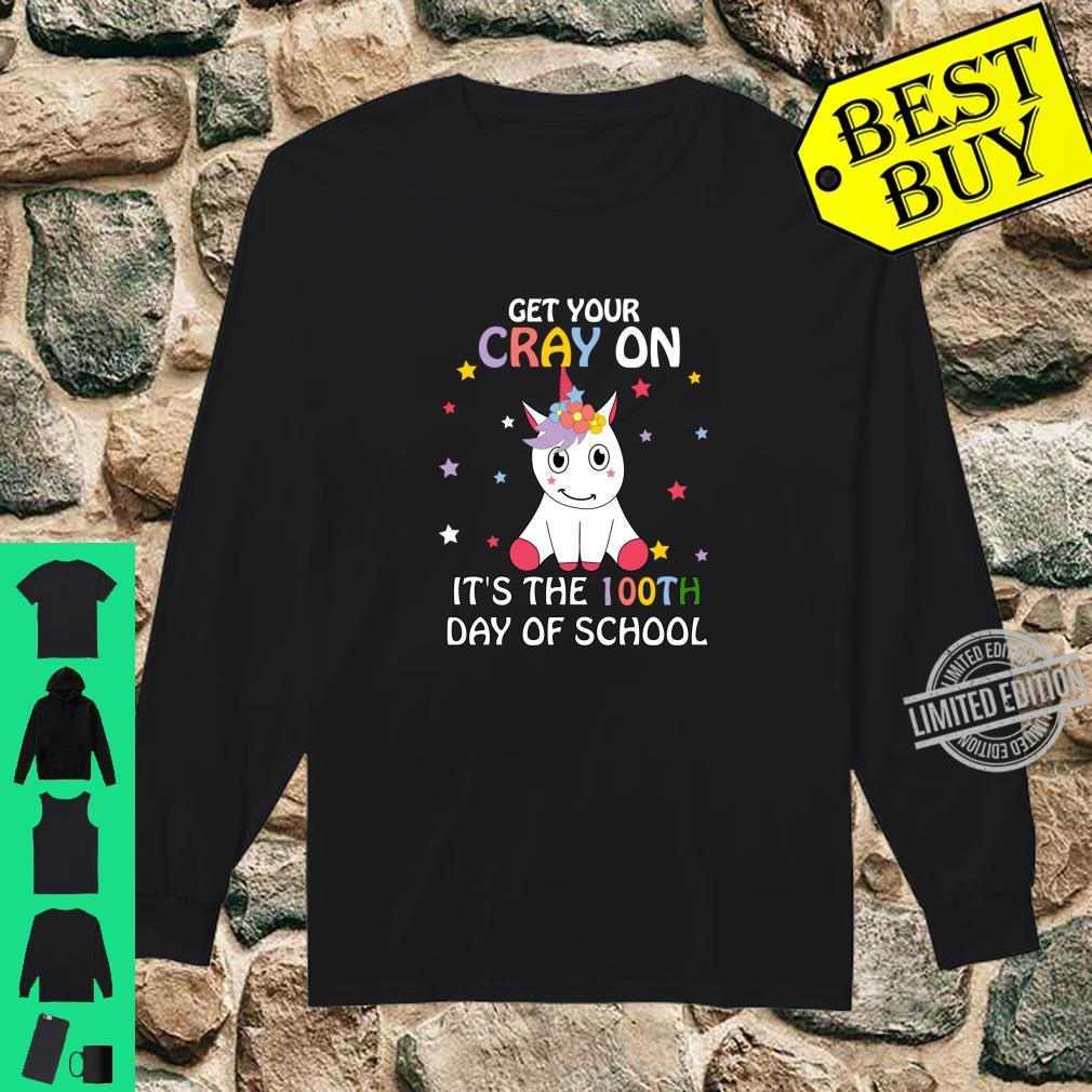 Happy 100th Day of School Child Shirt long sleeved