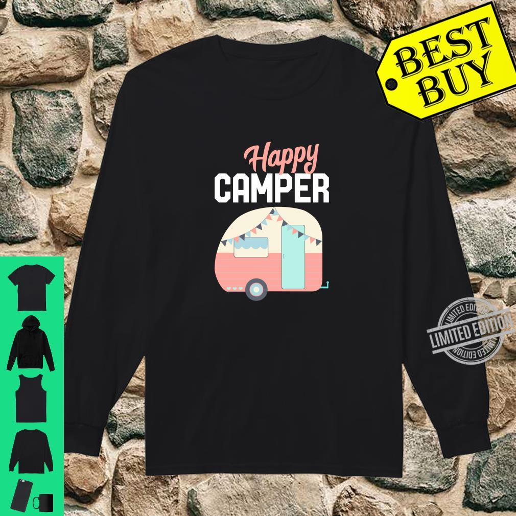 Happy Camper I Camping Wohnwagen Glamping Langarmshirt Shirt long sleeved