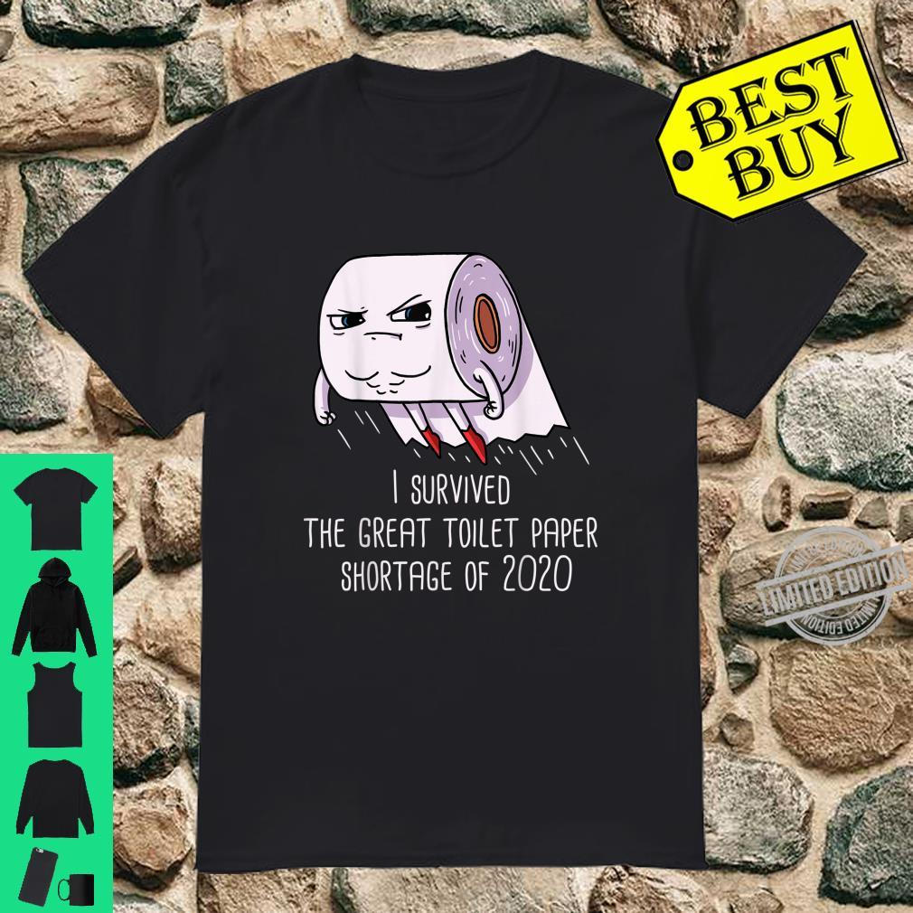 I Survived The Great TP Shortage Captain Toilet Paper Hero Shirt