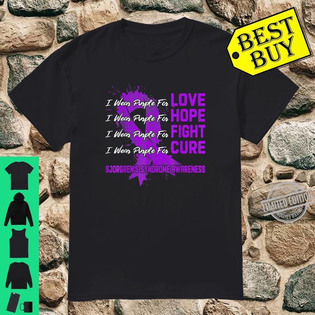 I Wear Purple For Sjorgren's Syndrome Awareness Shirt