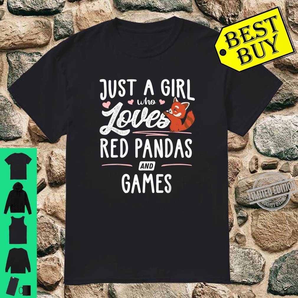 Just A Girl Who Loves Red Pandas And Games Shirt