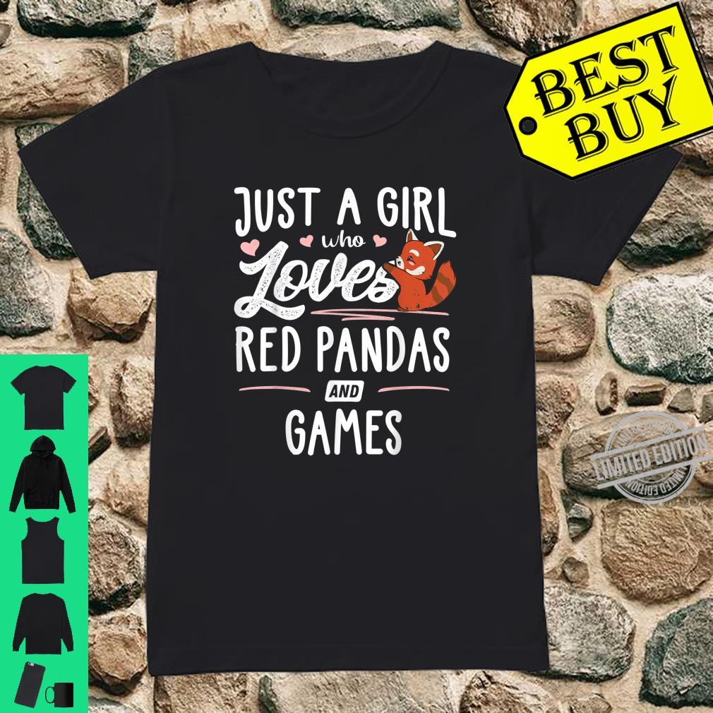 Just A Girl Who Loves Red Pandas And Games Shirt ladies tee