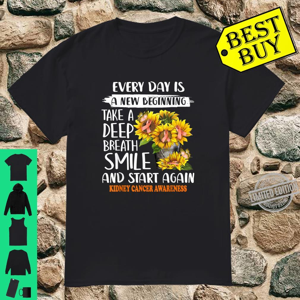 Kidney cancer sunflower smile start again Shirt