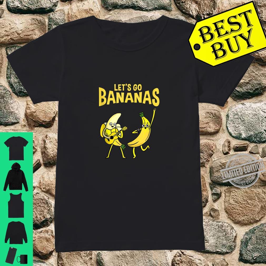 Let's Go Bananas Banana Shirt ladies tee