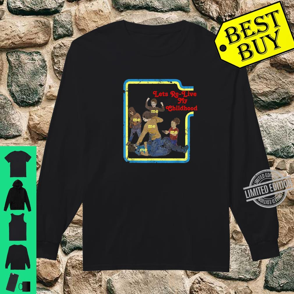 Lets Relive My Childhood Retro Comic Book Style Shirt long sleeved