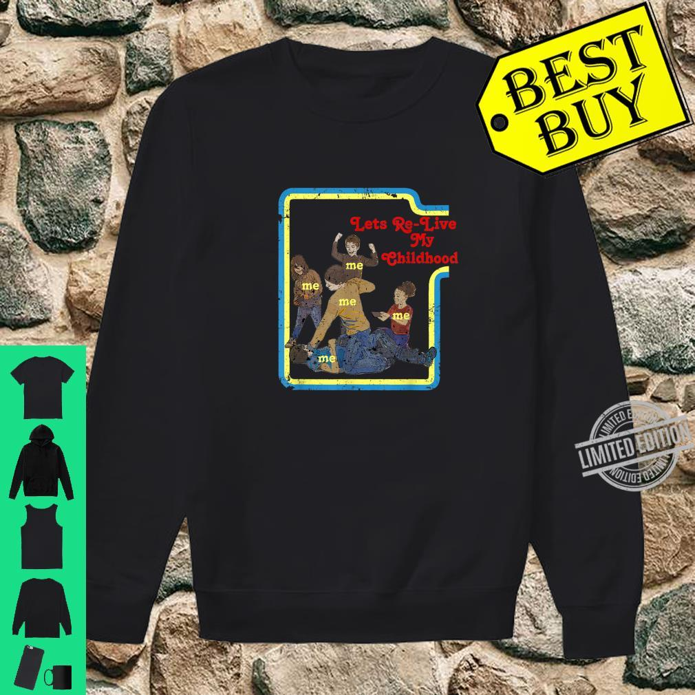 Lets Relive My Childhood Retro Comic Book Style Shirt sweater