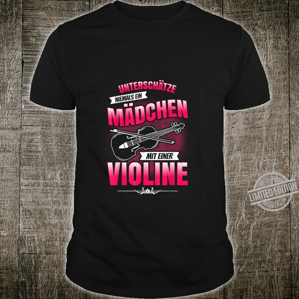 Lustige Geschenkideen ViolinenSpielerin Violine Shirt