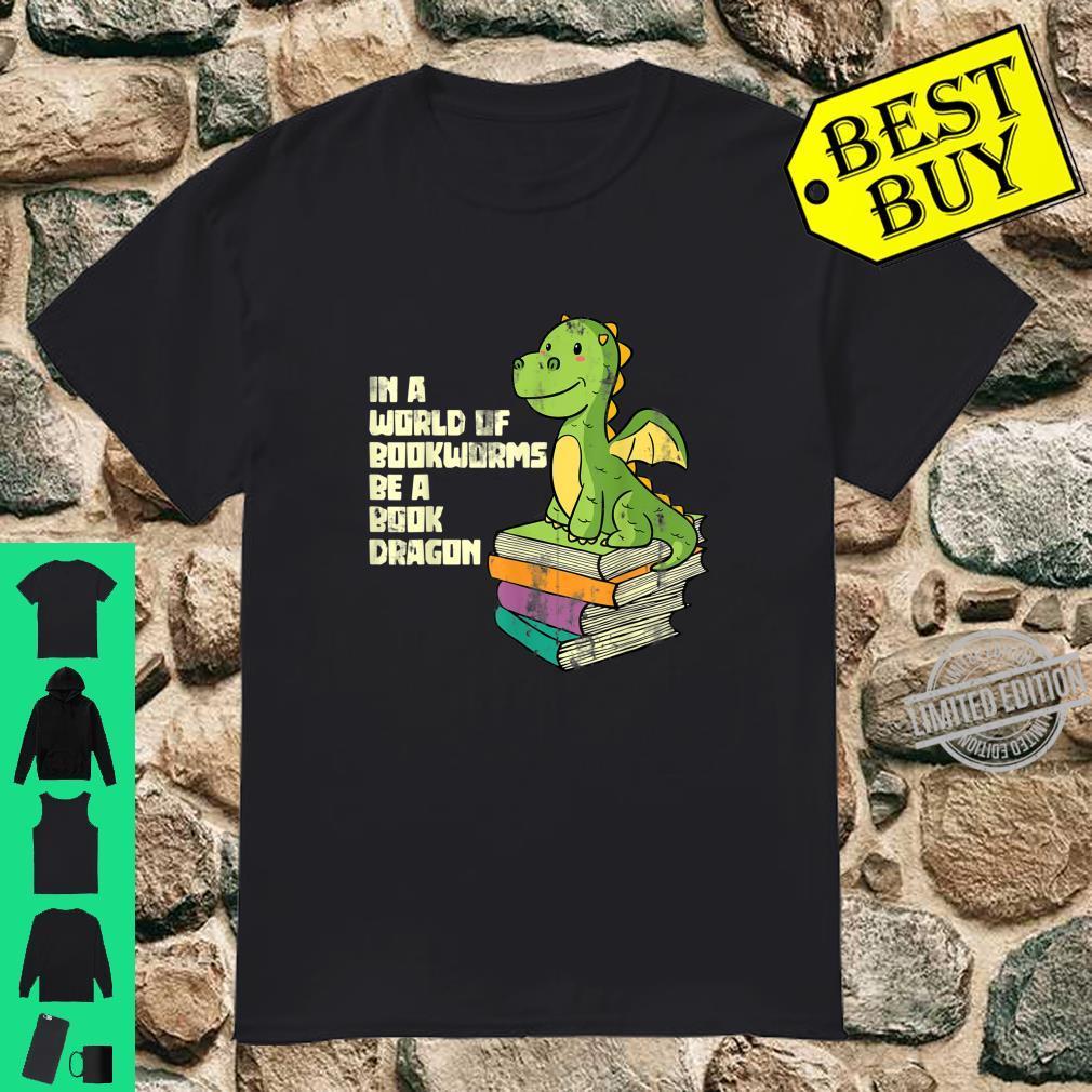 Lustiges Bücher Bücherwurm Tier Geschenk Drachen Shirt