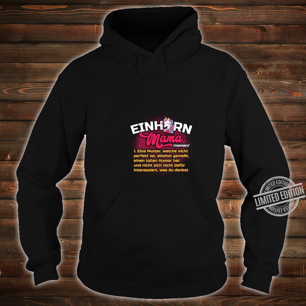 Lustiges Mutter Geschenk Muttertag Definition Einhorn Mama Langarmshirt Shirt hoodie