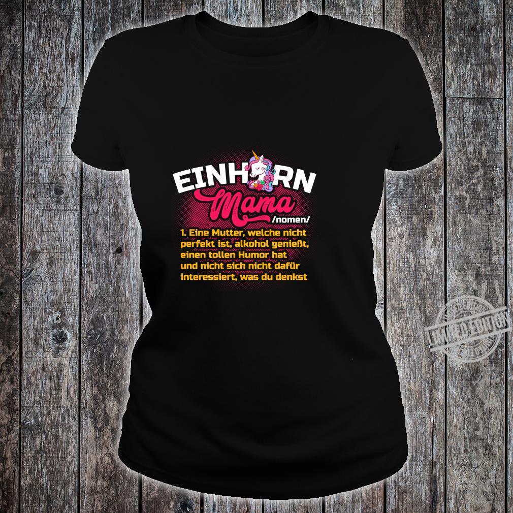 Lustiges Mutter Geschenk Muttertag Definition Einhorn Mama Langarmshirt Shirt ladies tee